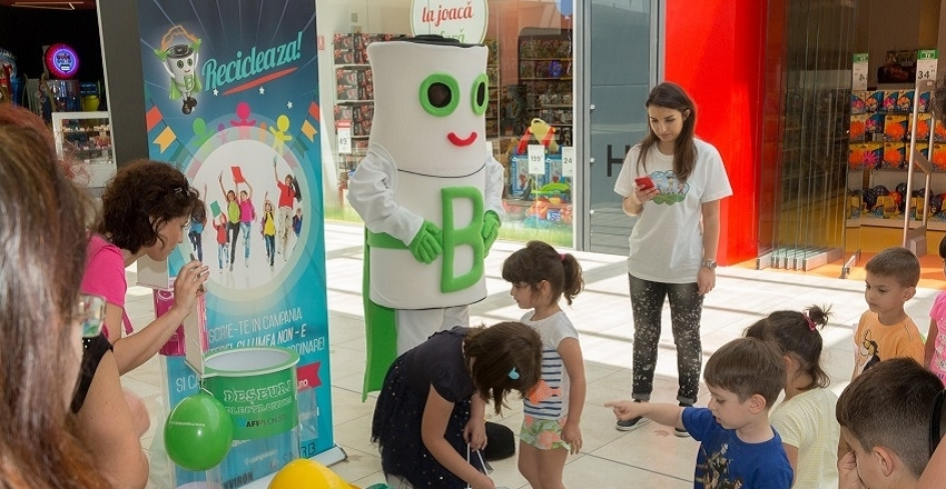 Hundreds of children celebrated the World Environment Day together with Baterel at AFI Ploiesti