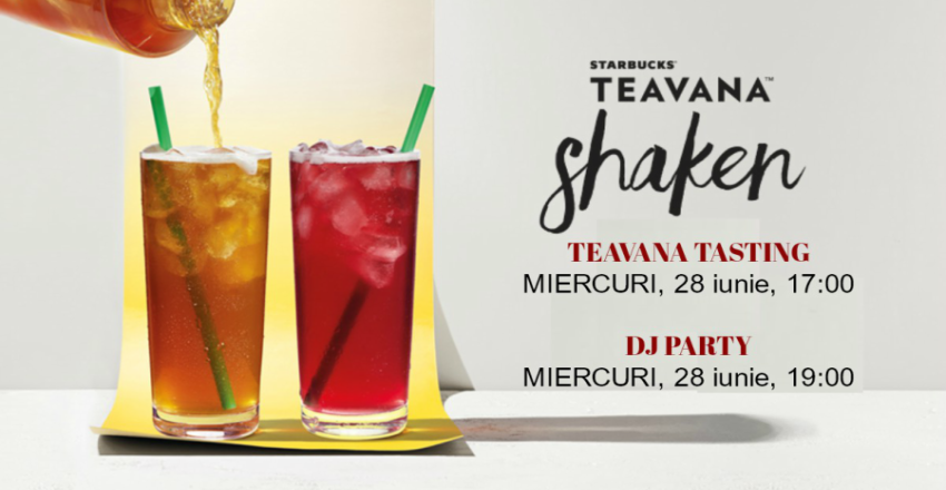 Starbucks invites you to discover the new TEAVANA drinks