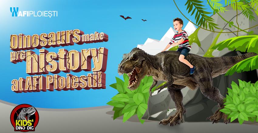 Dinosaurs make prehistory at AFI Ploiesti