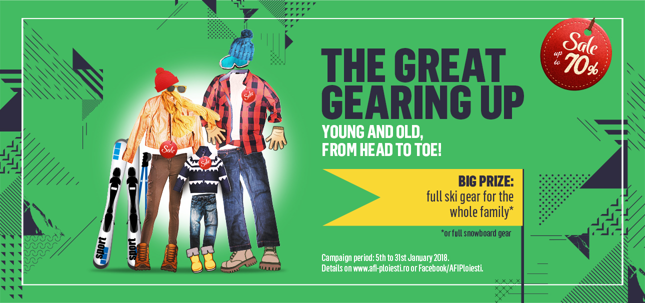 THE GREAT GEARING UP – young and old, from head to toe!