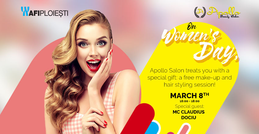 Apollo Beauty Salon and AFI Ploiești surprises the women with a special gift on the 8th of March!