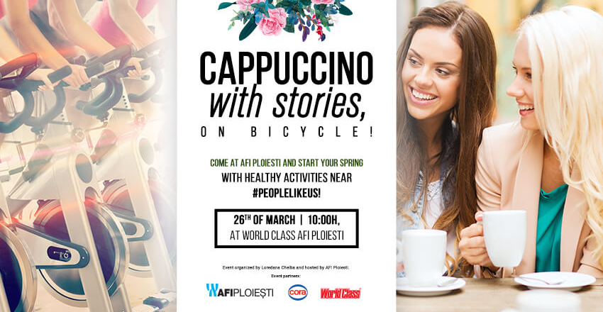Cappuccino with stories, on bicycle!