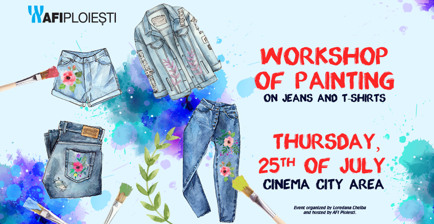 Workshop of painting on jeans and T-shirts