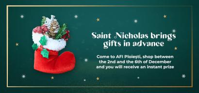 Saint Nicholas brings gifts in advance!