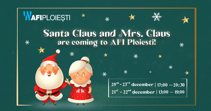 Santa Caus and Mrs. Claus are coming to AFI Ploiesti!