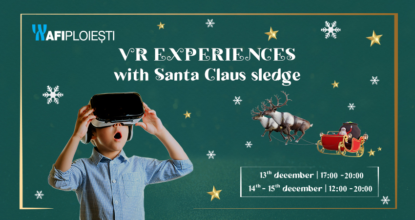 VR Experiences with Santa's Sleigh!